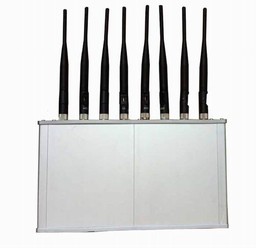 Wholesale High Power 8 Antennas 16W 3G 4G Mobile phone WiFi Jammer with Cooling Fan