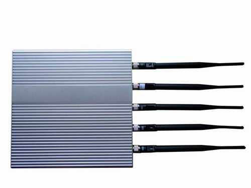 Wholesale 5 Antenna Cell Phone jammer(3G,GSM,CDMA,DCS,PHS)