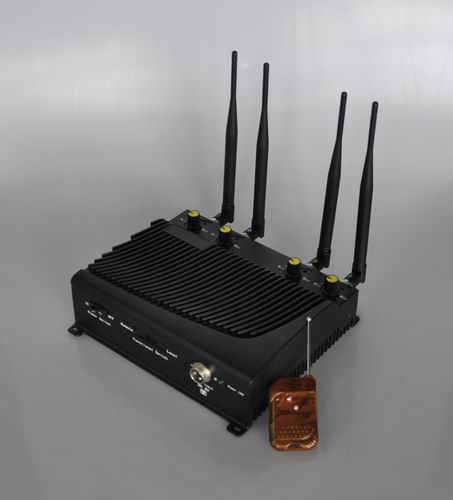 Wholesale Adjustable 4 Band Desktop Mobile Phone Jammer with Remote Control