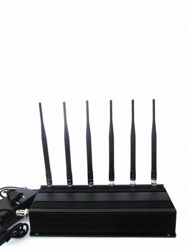 Wholesale 6 Antenna Cell phone 3G,WiFi & RF Jammer (315MHz/433MHz)